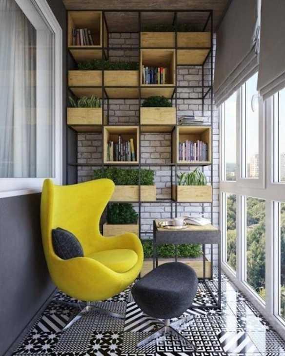 Balcone arredato con mobili di design, da my-fly.ru