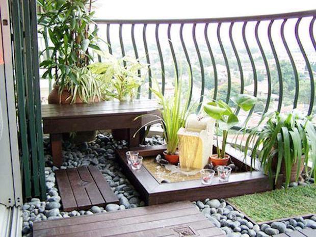 Mini Giardino Sul Balcone : Idee per arredare un balcone piccolo con orginalità