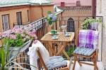 E' possibile rendere vivibili anche i balconi più piccoli, da stadshem.se