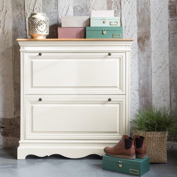 Scarpiera rustica in legno bianco, da Maisons du Monde