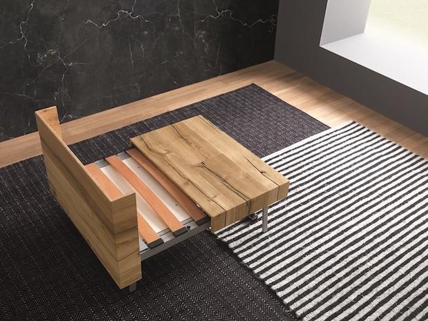 Tavolo trasformabile per ottimizzare gli spazi piccoli