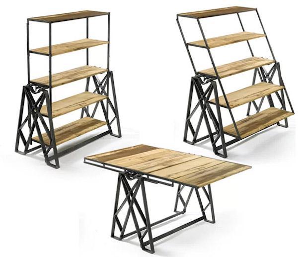 Swing, lo scaffale che diventa tavolo, da German Smart Living