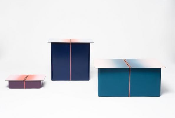 Tavoli di design con contenitori, da ENSCI