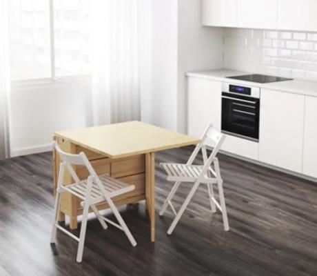 Tavolo a ribalta salvaspazio, da Ikea