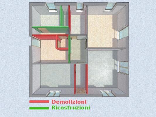 Progetto bagno in camera - demolizioni e ricostruzioni