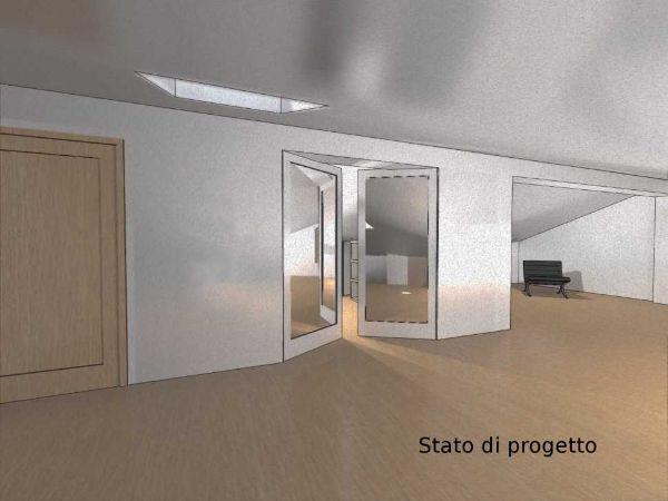 Progettazione della cabina armadio nel sottotetto