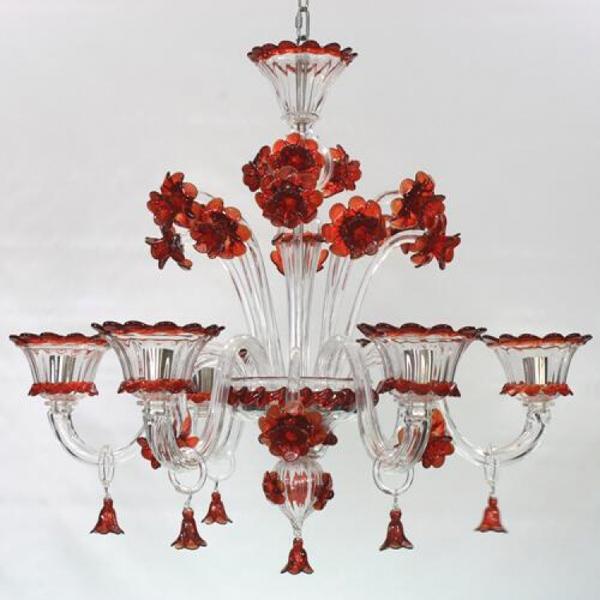 Lampadario veneziano Rezzonico - Officine del vetro