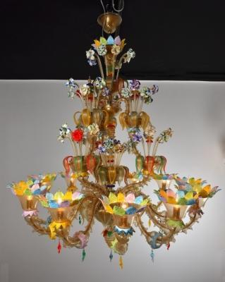 Lampadario veneziano artigianale Aurora - Antichi Angeli
