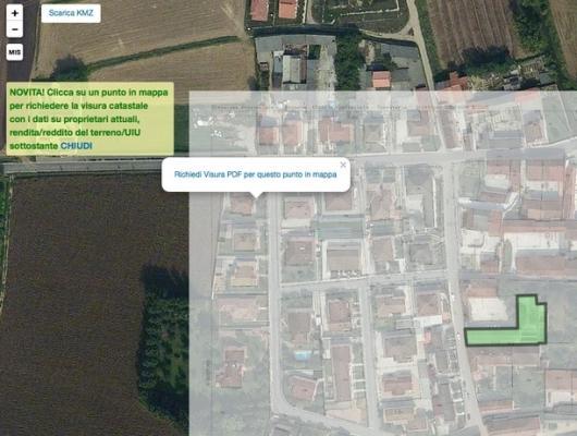 Individuazione degli edifici rurali con Catamaps