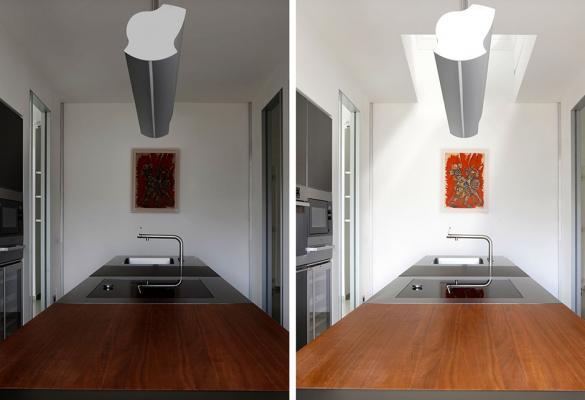Intervento di apertura finestra sul tetto - Prima e dopo Velux