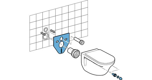 Kit disaccoppiante per insonorizzate il wc di Geberit