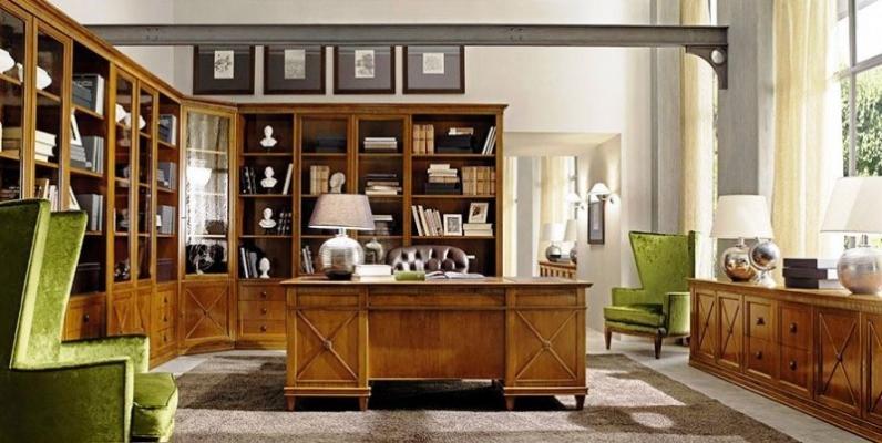 Stanza studio con libreria ad angolo, di Tosato