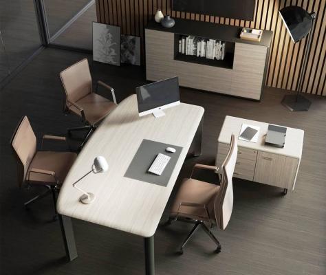Scrivania e cassettiera con ruote, BADO Office
