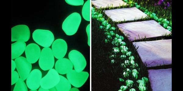 Segnapassi e sassi fosforescenti di FluoStyle