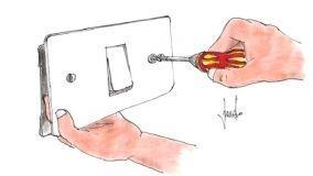 Sostituzione di un interruttore della luce in fai da te
