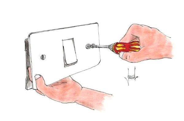 Sostituzione interruttore della luce