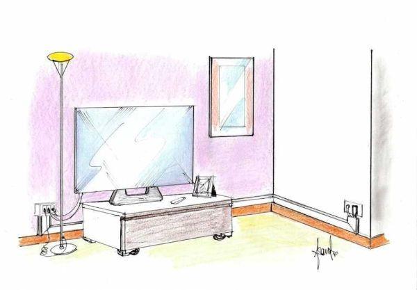 Nuova presa a muro per alimentazione elettrica e cavo TV