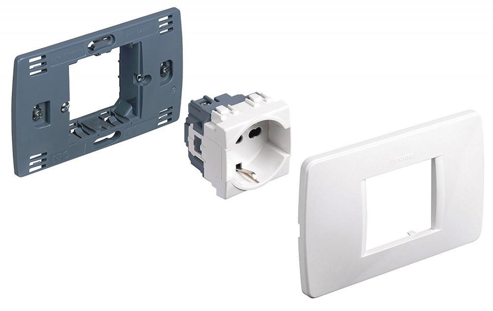 Presa elettrica Bticino Luna Premont kit standard tedesco