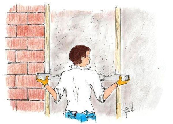 Posa intonaco a parete