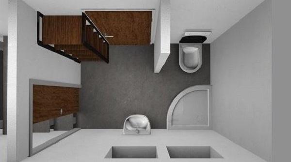 Progetto bagno:  vista dall'alto