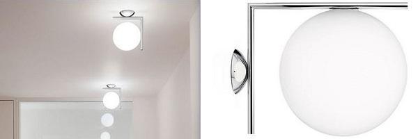 IC Lights di Flos per illuminare il bagno con plafoniere di design