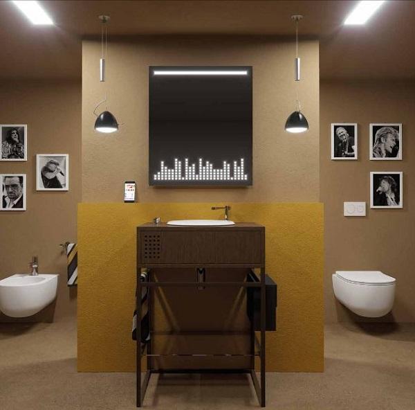 Di Olympia Ceramica lo specchio con led per illuminare il bagno