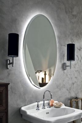 Più classica la specchiera ovale Charme per illuminare il bagno, Arbi Bathroom