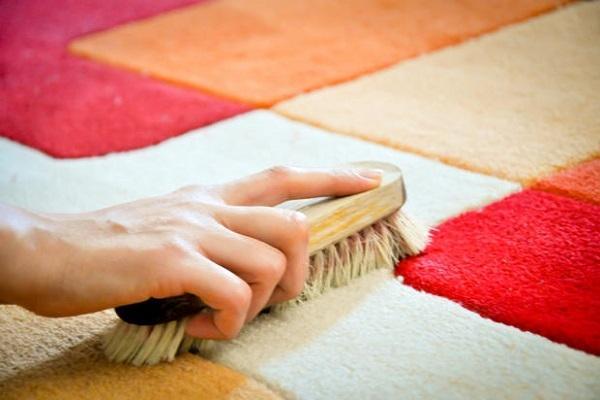 Spazzola per eliminare macchie dai tappeti