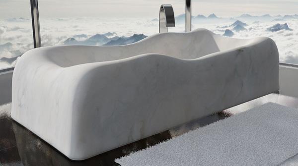 Vasca bagno misure, by Dedalo Stone