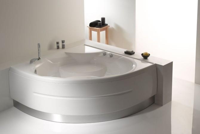 Vasche Da Bagno Angolari Treesse : Vasca da bagno da incasso d angolo in acrilico idromassaggio