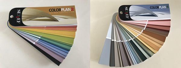 Palette cromatica delle tinteggiature ai silossani di Settef