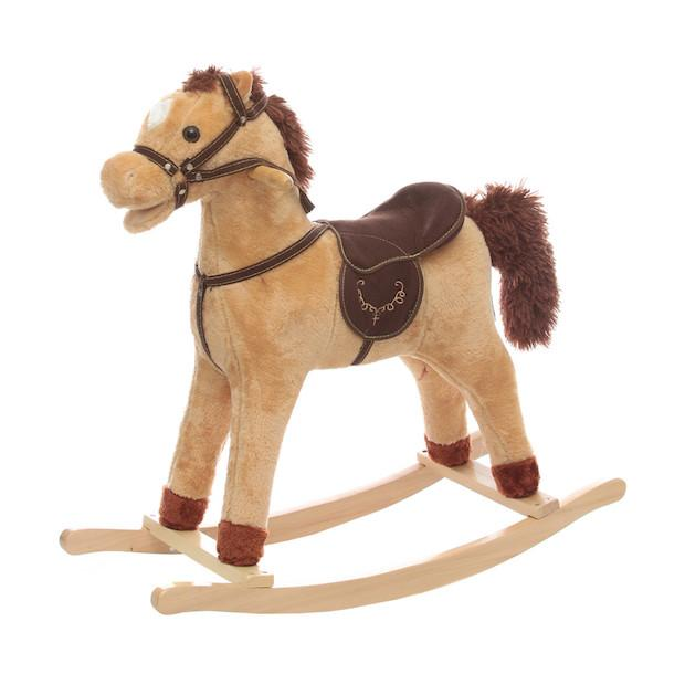 Cavallo a dondolo in peluche con suoni, da Kasanova