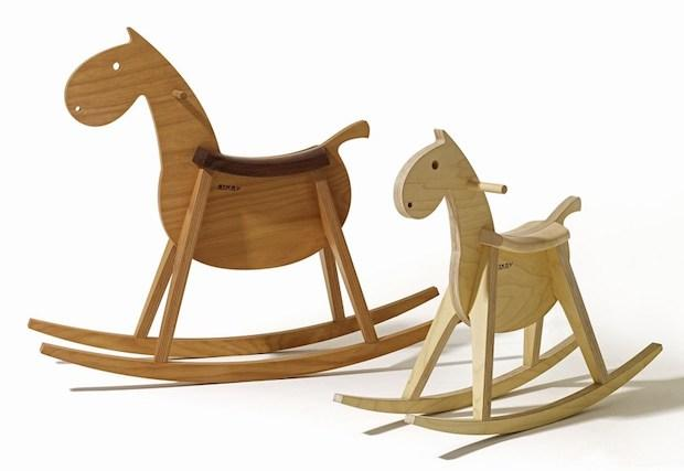 Cavallo a dondolo legno, di design, da Sixay Furniture