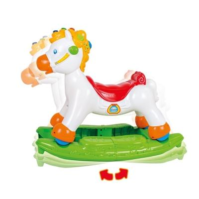 Cavallo a dondolo in plastica e multifunzionale, da Clementoni
