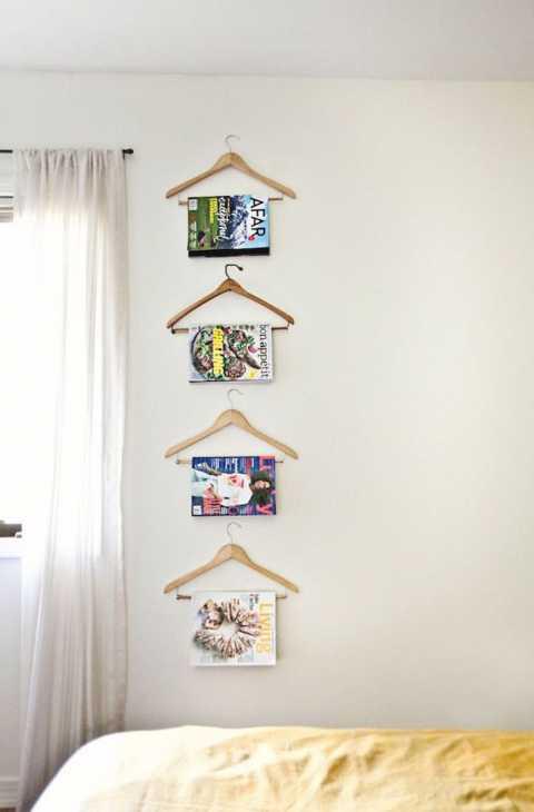 Grucce trasformate in porta riviste, da beautifulmess.typepad.com