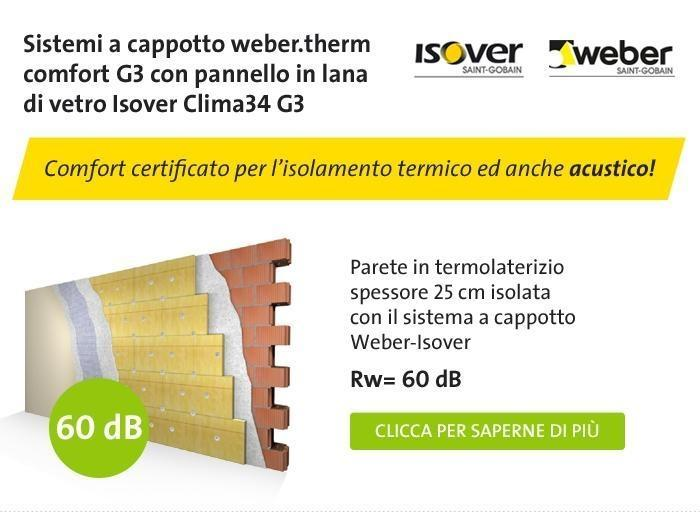 Sistema a pannelli isolanti Isover Clima34 G3