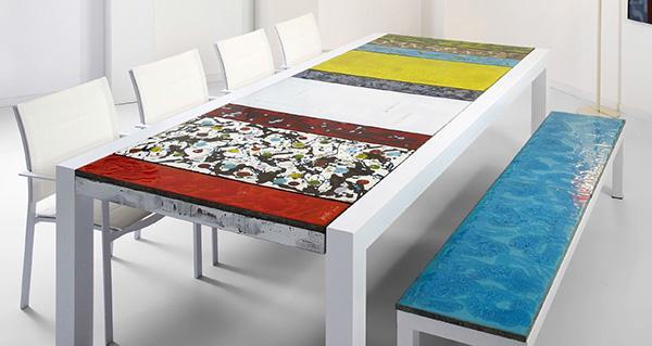 Tavoli in ceramica dal design contemporaneo