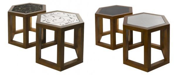 Tavolini in ceramica The Art Collection di Valmori Ceramica