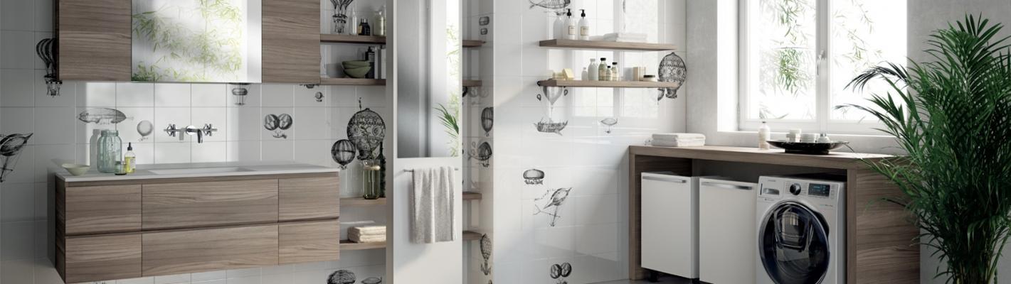 Soluzione completa per lo spazio lavanderia, da Scavolini