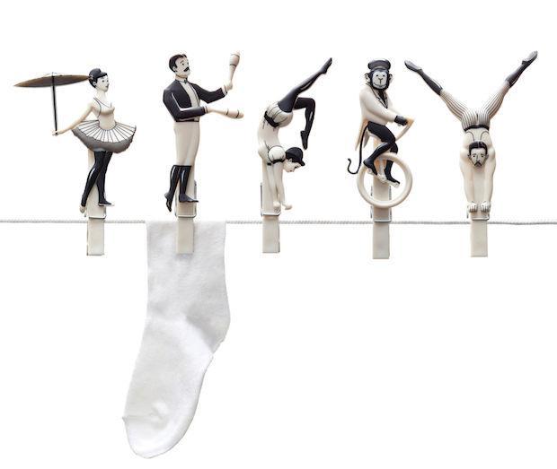 Mollette con acrobati, da Pa design