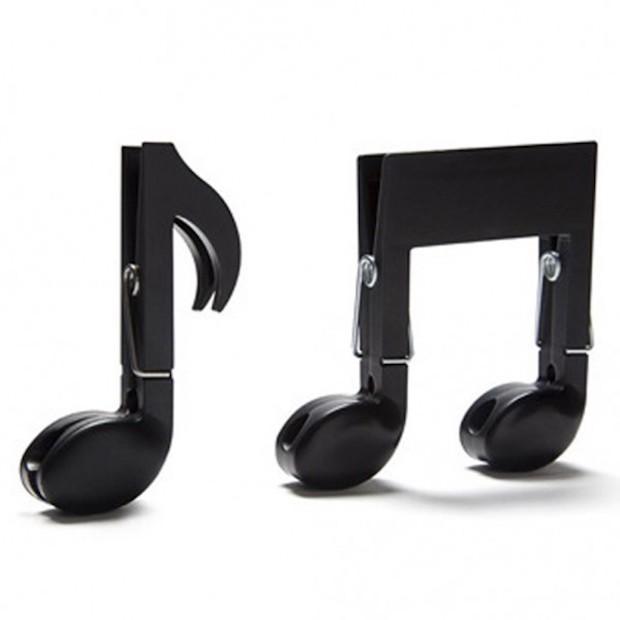 Mollette a forma di nota musicale, da Ototo