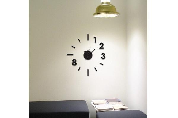 Orologio wall sticker Contemporary di Dekoidea
