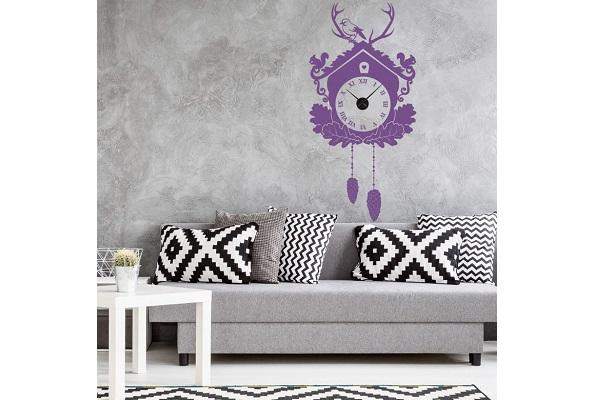 Orologio wall sticker Cucù di Wall Art