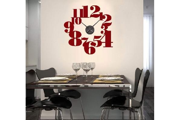 Orologio wall sticker Positivo Tipografico di Wall Art