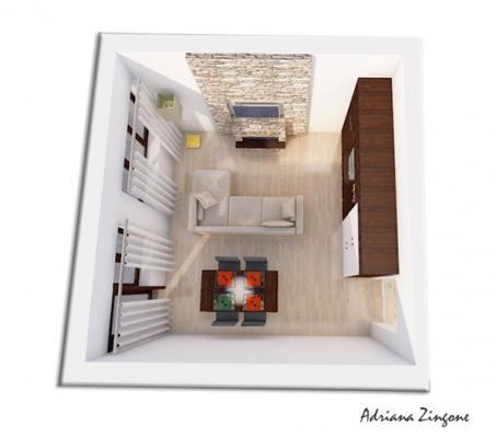 Predisposizione design parete attrezzata biocamino tv