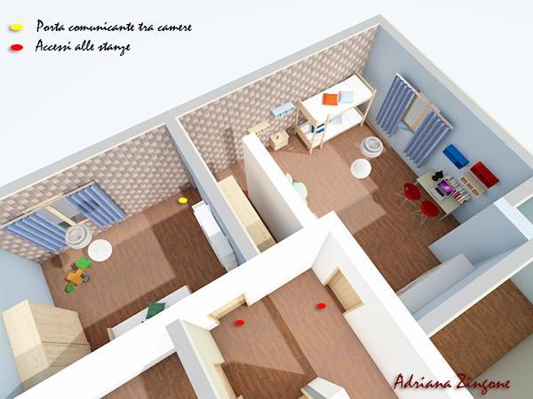 Come progettare la cameretta per due bambini for Progettare stanza