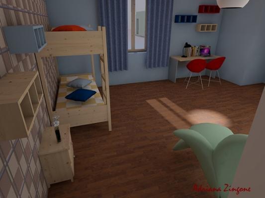 Come progettare la cameretta per due bambini for Simulatore arredamento
