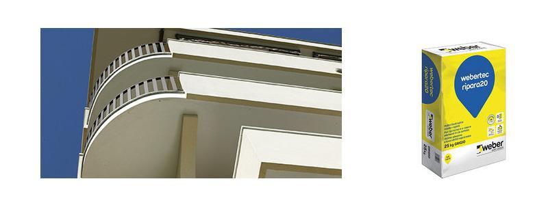 Riparazione balconi e frontalini con le malte Weber
