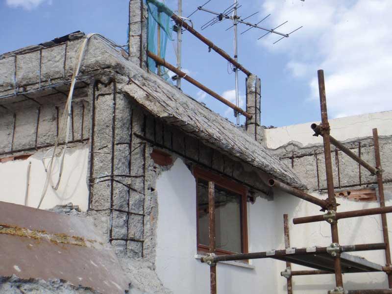 Frontalini dei balconi ammalorati