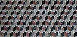 Pavimento di marmo anticato a cubi prospettici, by Linea Rustica Marmi